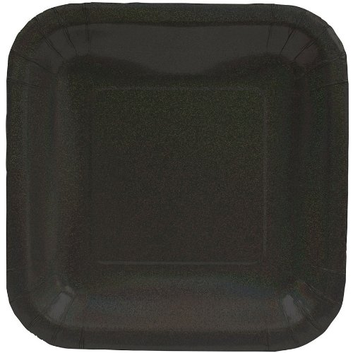 Black Glitz Dinner Plates