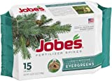 Jobe's 1611 Evergreen Outdoor Fertilizer Food Spikes, 15 Pack