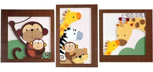 Baby Luv 3-Piece Wall Hangings by Lambs & Ivy