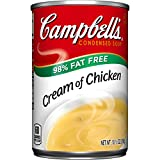 Campbell's 98% Fat Free Condensed Soup, Cream of Chicken, 10.5 Ounce (Pack of 24)