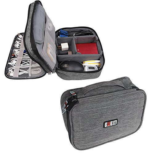 bubm-double-layers-travel-gadget-organiser-case-electronics-accessories-bagmedium-denim-gray