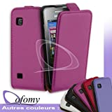 Dofomy - Housse Coque Etui Slim Rose Fushia pour Samsung Player City
