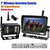 51nWIMCDNVL. SL160  Rupse 7 inch HD Monitor Wireless IR Night Vision Rear View Back up Camera System for RV Truck Trailer Bus or Fifth Wheel