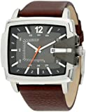 Diesel Gents Brown Leather Strap Fashion Watch DZ1496