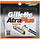 Gillette Atra Plus Lubra Strip Cartridge - 10 ea