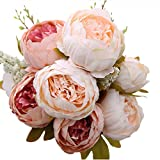 Luyue Vintage Artificial Peony Silk Flowers Bouquet Home Wedding Decoration