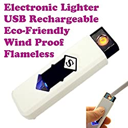 Gadget Hero's USB Rechargeable, Electronic Cigarette Cigar Lighter, Flameless, Eco Friendly.