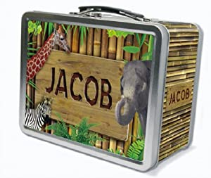 Zoo Animals Personalized Lunch Box