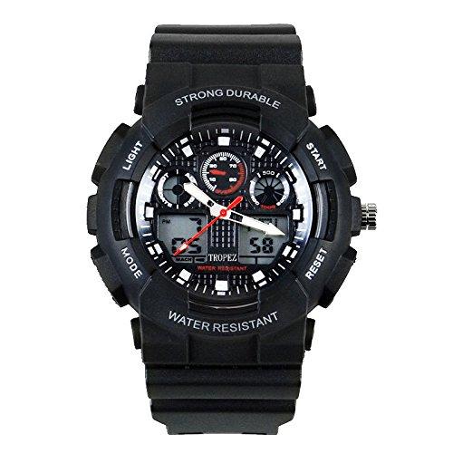 Tropez Outdoor Analog Digital Dual Time Unisex Sports Watch White