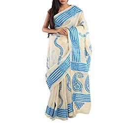 Kiara Crafts Tussar Silk Saree (kc-035_Blue)
