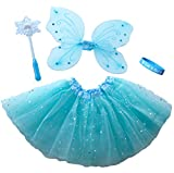 Frozen Inspired Fairy Princess Set with Light Up Snowflake Wand & Our Bracelet