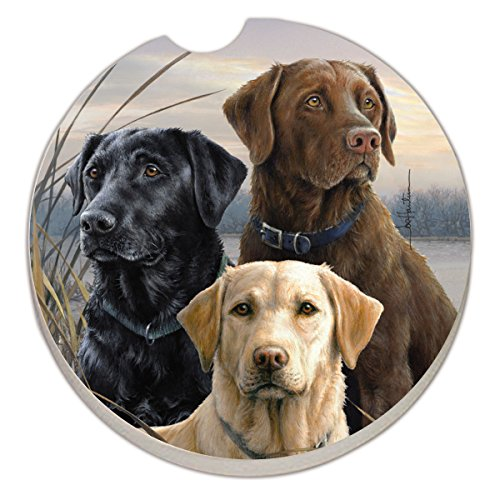 Counter Art Absorbent Stoneware Car Coaster, Hunting Dogs