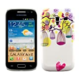 Hard case Bird cage for Samsung Galaxy Ace 2 i8160 in White Hot Pink - from kwmobile