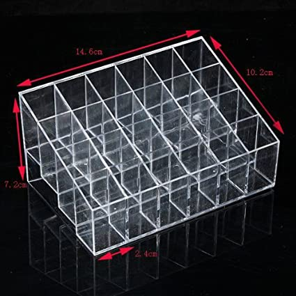 Acrylic-Clear-Cosmetic-Make-Up-Case-Lipstick-Liner-Brush-Holder-Organizer-Drawer-NO-9