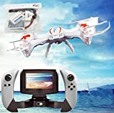 WayIn® U818S-WIFI818 6-Axis Gyroscope RC Quadcopter with FPV Camera/Remote Control White and Extra Batteries set