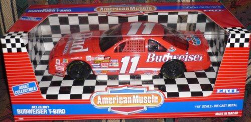 #7358 Ertl American Muscle Nascar Bill Elliott #94 Budweiser T-Bird 1/18 Scale Diecast front-833306