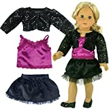 This delightful and stylish look is perfect for recitals, holiday visits or playing fashion shows. The glitter, satin, lace and tulle details are a fantasy to the eye, but stylish for a properly dressed doll for about town. Doll & shoes n...