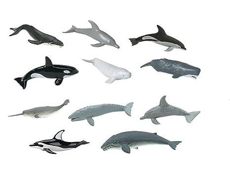 Plastoy - 6947-04 - Figurine - Animal - Tubo Baleines Et Dauphins