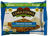 Corazonas White Chocolate Macadamia Oatmeal Squares, 1.76 Ounce Bars (Pack of 12)