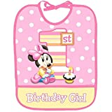 Minnie's 1st Birthday Baby Bib