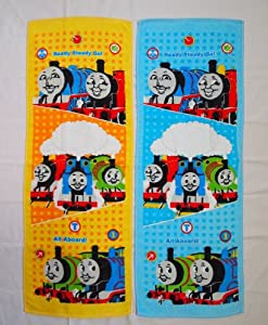 Two Thomas the Tank Engine Sports Towel (light blue + yellow) set (japan import)