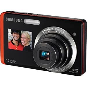 Samsung TL225 DualView 12.2MP Digital Camera with 4.6X Optical Zoom and 3.5-Inch LCD Screen and 1.5-Inch Front Screen (Orange)