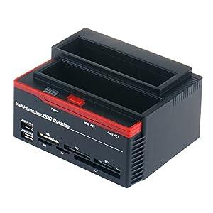 "WANLONGXIN 892U2IS All in 1 2.5""3.5"" Dual Slots USB2.0 SATA IDE HDD Docking Station Card Reader (US Plug)"