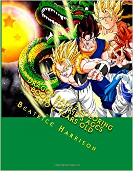 Dragon Ball Z Coloring Book For Kids Ages 4 To 9 Years