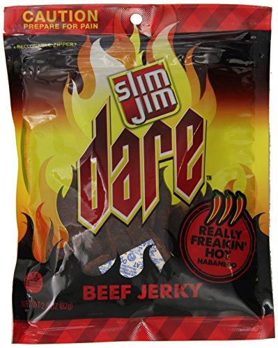 Slim Jim Dare Jerky, Habanero, 2.9-Ounce