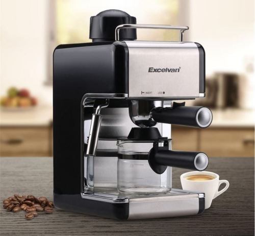 US Stock Excelvan CM6812 4-Cup 800W 3.5bar Mini Steam Espresso and Cappuccino Coffee Maker Stainless Steel Coffee Machine (Krupps Milk Frother compare prices)