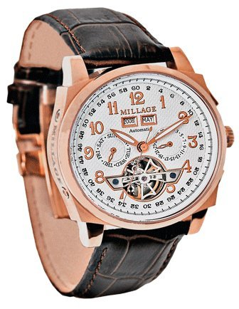 Millage Tourbillion Rose Gold on White