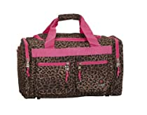 Hot Sale Rockland Luggage 19-Inch Tote Bag, Pink Leopard, One Size