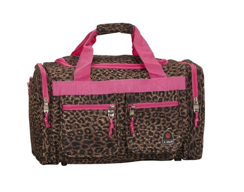 Rockland Luggage 19-Inch Tote Bag, Pink Leopard, One Size