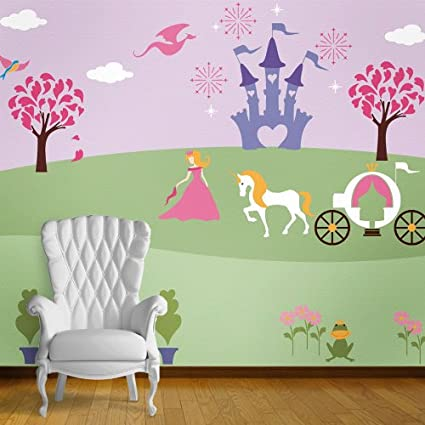 Princess Theme Wall Stencils for Girls Princess Room