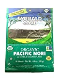 Emerald Cove Organic Untoasted Nori Sheets Package, Pacific Nori, 0.9 Ounce (Pack of 6)