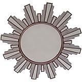 Bentley Home Contemporary Round Sunburst Effect Venetian Style Wall Mirror
