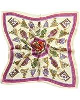 TONY & CANDICE (TM) Women's Graphic Print 100% Silk Square Scarf Neckerchief 20*20 Inches