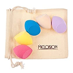 Imported Set of 5 Makeup Beauty Foundation Powder Liquid Blender Sponge Puff -Egg