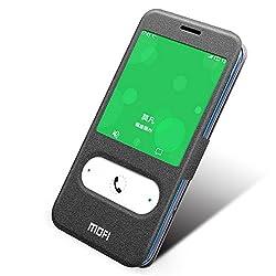 Zhopix Original MOFI Double Windows PU Leather flip Cover for Meizu M2 note2 | Black