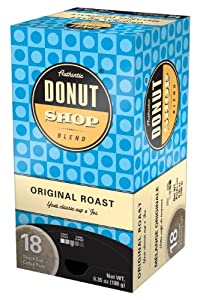 Reunion Island RI58011 Authentic Donut Shop Original Blend Single Cup Coffee Pods, 18-Count
