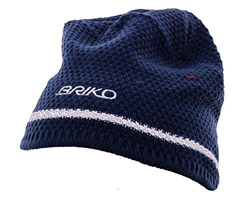 BRIKO Berretto invernale unisex blu bianco 012848 lana interno felpato, Taglia: