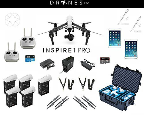 New DJI Inspire 1 Pro Dual Remotes Zenmuse X5 Camera Dual Remote - Everything You Need All Inclusive Production Bundle