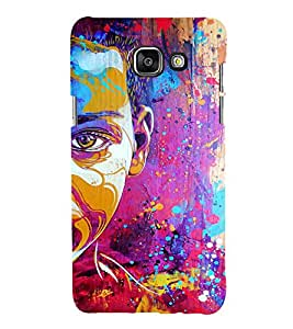 EPICCASE Colorful Face Art Mobile Back Case Cover For Samsung Galaxy A7 (2016) (Designer Case)