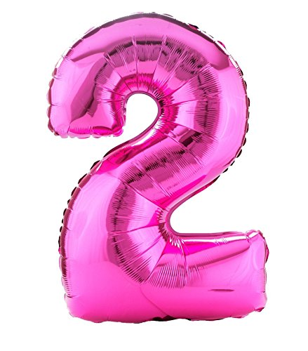 "Pink #2 Shaped 34"" Foil Balloon"