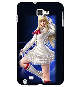 SAMSUNG GALAXY NOTE 1 BEAUTIFUL GIRL Back Cover by PRINTSWAG