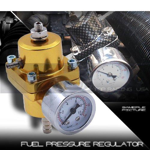 Fuel Pressure Regulator Universal JDM Adjustable Turbo Fuel 140psi Gold (Corolla Fuel Regulator compare prices)