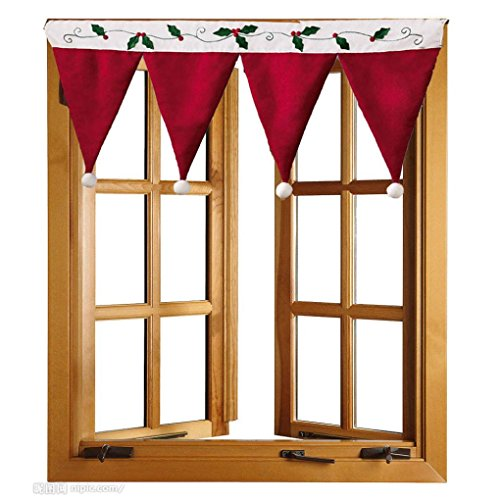 DZT1968 Door Window Drape Panel Christmas Curtain Decorative Home (Refrigerator Dishes compare prices)
