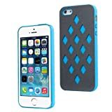 Moon Monkey Fashion Waterproof Glaring Back Cover Slim Case for Iphone 5 5s (MM396) (Blue)
