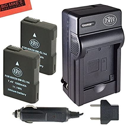 Pack-of-2-ENEL14-Batteries-And-Battery-Charger-Kit-for-Nikon-Coolpix-P7000-P7100-P7700-D3100-D3200-D5100-D5200-Digital-SLR-Camera