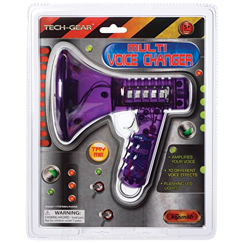 Toysmith Tech Gear Multi Voice Changer (6.5-Inch Various Colors) (Megaphone Kids compare prices)